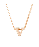 J Goodin Rosegold Finish Initial V Pendant With 18 Inch Chain - $19.99
