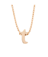 J Goodin Party Jewelry Gift Rosegold Finish Initial T Pendant With 18 In... - $19.99