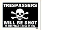 Trespassers Will Be Shot MS Vintage 3X4 Vinyl Guns Sticker - $4.50