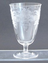 Early hand cut glass  rose Westmoreland  Crystal  Made in USA  PA - $15.80