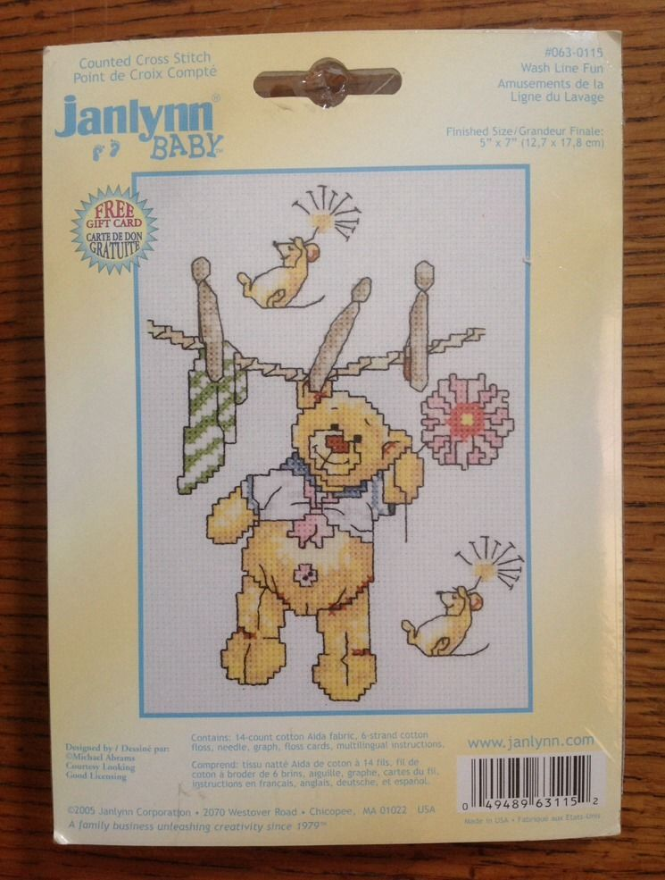 "Design Works Counted Cross Stitch Kit 11/""X14/""-Noah/'s Ark Birth Record 14 Count"