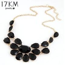 17KM® Fashion Lady Banquet Accessories Multicolour Acrylic Gem Choker Ne... - $4.51