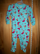 Faded Glory Baby Clothes 3M-6M Newborn Playsuit Girl Christmas Holiday Footy New - $12.34