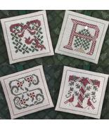 Alphabet Ornaments Four Q-R-S-T cross stitch chart Drawn Thread - $9.00