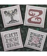 Alphabet Ornaments Four Y-Z cross stitch chart Drawn Thread - $9.00