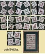 FULL BUNDLE Alphabet Ornament Series 7 charts cross stitch Drawn Thread - $59.50