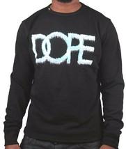 Dope Couture Mens Black Sub-Zero Ice Cold Fleece Crewneck Sweatshirt Sweater NWT