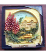 Lupin Floral Fridge Magnet 2 inch Garden Harmony Kingdom - $7.00