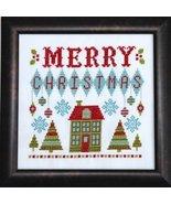 Merry Retro Christmas cross stitch chart Tiny Modernist Inc - $8.10