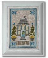 Winter House cross stitch chart Tiny Modernist Inc - $8.10