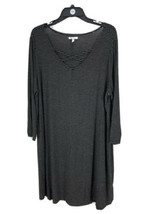 Maurices Women's Black Striped Long Sleeve V-Neck Shirt Dress Size 1 Plus - $14.85