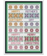 Floral Card Collection I cross stitch chart Cross Stitch Cards - $9.00