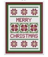 Floral Christmas Card cross stitch chart Cross Stitch Cards - $9.00
