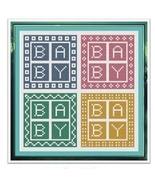 Baby Baby cross stitch chart Cross Stitch Cards - $9.00