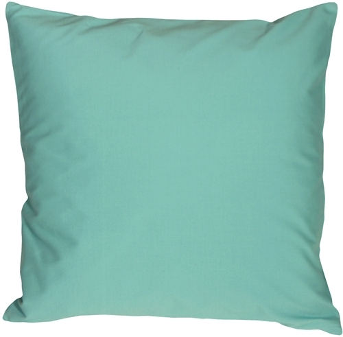Pillow Decor - Caravan Cotton Turquoise 20x20 Throw Pillow