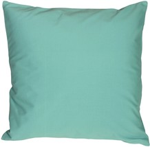 Pillow Decor - Caravan Cotton Turquoise 20x20 Throw Pillow - £22.86 GBP