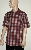 Arrow $50 Cotton Red Plaid Short Sleeve Shirt XL - $7.99