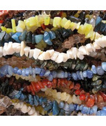 "TEN 10 Strands Mixed Stone & Glass Chip Beads Endless 32"" - 34"" Wear as... - $17.50"