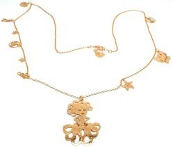Necklace 70 cm, 925 Silver, Pendant Medusa Fish Crab Shell, le Favole image 1