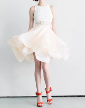 Womens Midi Rust Skirt Layered Rustic Tulle Skirt Outfit Ruffle Midi Tutu T879 image 2