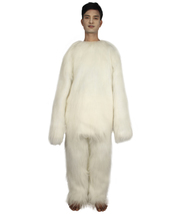 Furry Dog Collection | Men's White Spiked Furry Dog Cosplay Costume with Tail HC - $122.85