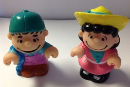 """Peanuts Characters Lucy & Linus - 2 1/2"""" Tall PVC - Vintage1966 - Hard To Find - $3.94"""