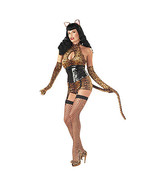 Sexy Cattail Bettie page leopard Costume. cat woman costume - $8.75