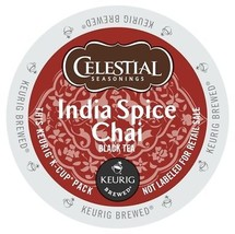 Celestial Seasonings India Spice Chai Tea, 72 count K cups, FREE SHIPPING - $52.99
