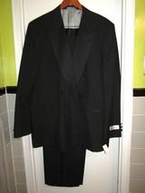 New! Oleg Cassini Black Tux Tuxedo Suit  46 L  W 41 - $98.99