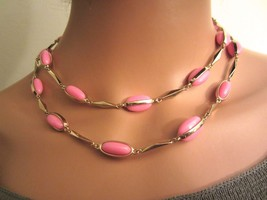 J. Crew Pink & Gold Tone Station Long Strand Necklace -- Rare! - $29.99