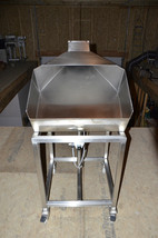 Portable Stainless Steel Pneumatic Dumping Infeed Hopper - $1,534.50