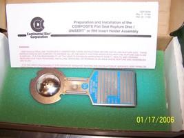 """NEW Continental Rupture Disc 1"""" CDCV FS 316 SS/ 316 SS/ Teflon/316 SS 32... - $64.35"""