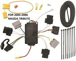 2005-2006 Mazda Tribute Trailer Hitch Wiring Kit Harness Plug Play Direct T-ONE - $60.29