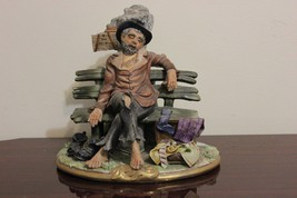 "RARE  Capodimonte Italy Porcelain Figurine Hobo by G. Cortese Mint 8"" - $150.00"