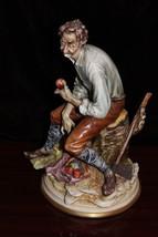 """Vintage Italy Capodimonte  A. Borsato Figurine Woodsman Mint 11"""" - $396.00"""
