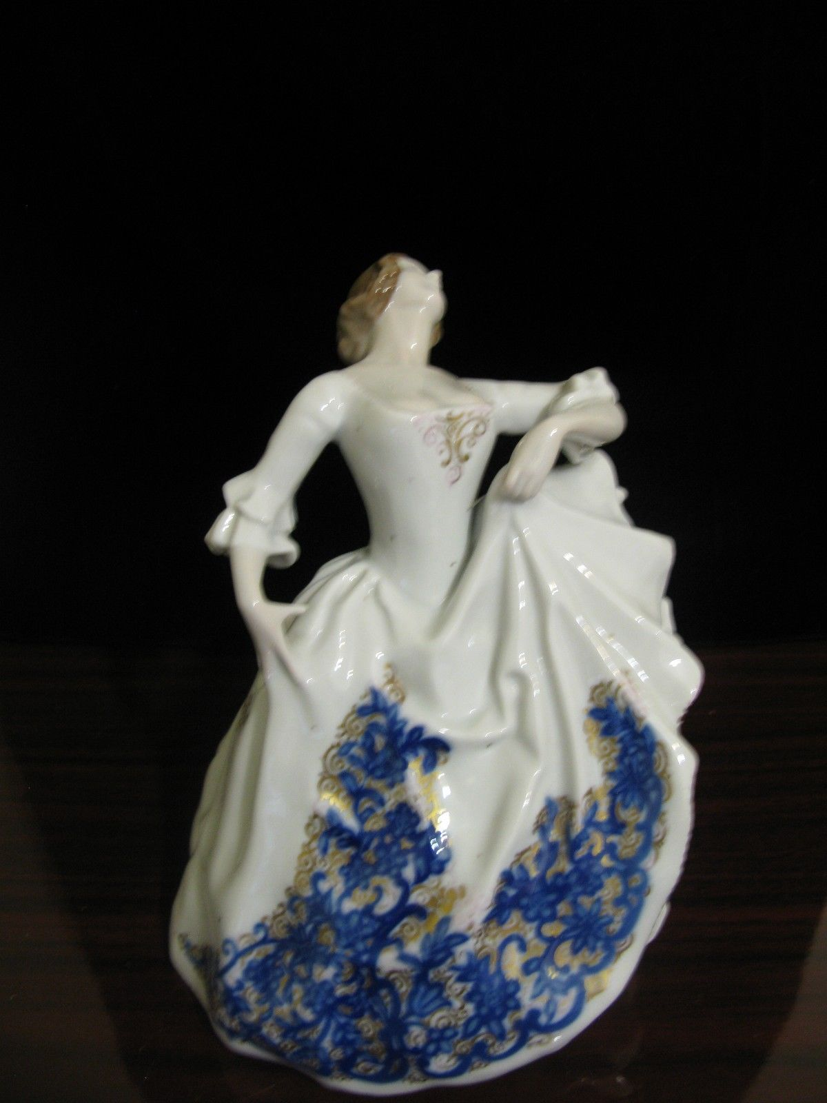 "Primary image for Antique Rosenthal Porcelain Figure Figurine Lady Dancer 8 1/2"" Marked circa 1922"