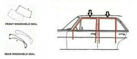 Front and Rear Windshield Seal + Window Running Channel Seal for Mercede... - $219.73