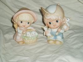 Homco Hobo Girl and Boy Figurines Home Interiors 1418 Vintage - $13.00