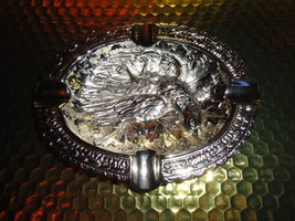"Bird style brass chromed plated ashtray 7"" L x 5.5"" W - $148.50"