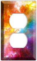 Space Galaxy Stars Colorful Nebula Power Outlet Plate Geek Nerd Room Bedroom Art - $8.99