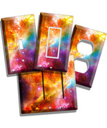 SPACE GALAXY STARS COLORFUL NEBULA CLOUD ROOM DECOR LIGHT SWITCH OUTLET ... - $9.99+