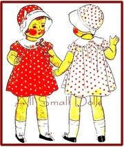 "Vintage 22"" Doll Pattern for Dress, Hat * Patsy Lou - $9.99"