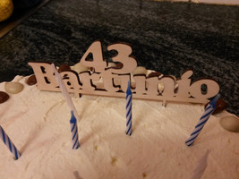Custom  Personalised Birthday CakeTopper Wooden  Names With  Year - $15.84