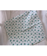 Handmade White & Green Floral Cotton Pillow Cover for 12 inch Pillow - $7.99
