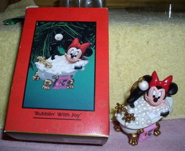 Disney Minnie Mouse in bath tub with bubbles Ornament - $48.69
