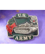 US Army Belt Buckle Vintage Tank buckle Eagle buckle Flag buckle army bu... - $85.00