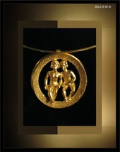 Vintage CROWN TRIFARI GEMINI Pendant and Choker Necklace - $85.00