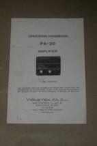 Wavetek pa-20 Detector amplifier Operation Operating  User Manual - $25.43