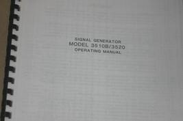 Wavetek 3510B/3520 signal Generator Operating Manual Instruction Guide - $25.43