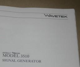 Wavetek 3510 signal Generator Operating Manual Instruction Guide book - $25.43